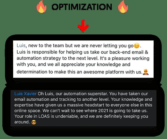 Optimization compreso